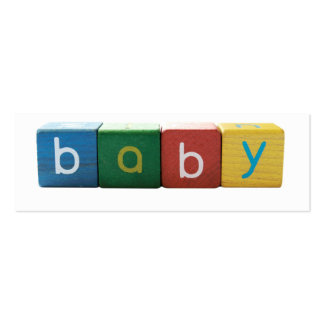 baby in blocks bookmark business card template