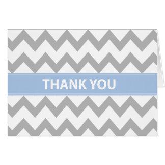 Baby in Blue Thank You Card