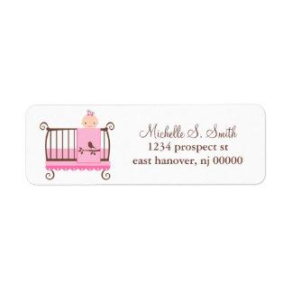 Baby in crib Return Address Labels