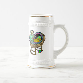 Baby In Crib With Toys 18 Oz Beer Stein