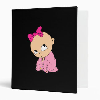 baby in pink with bow vinyl binders