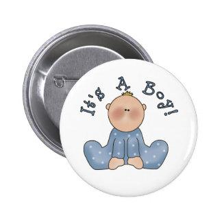 Baby in Sleeper It s a Boy Button