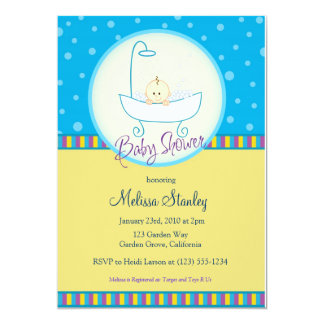 Baby In Tub Baby Shower Card