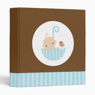 Baby in Umbrella Photo Book 3 Ring Binder