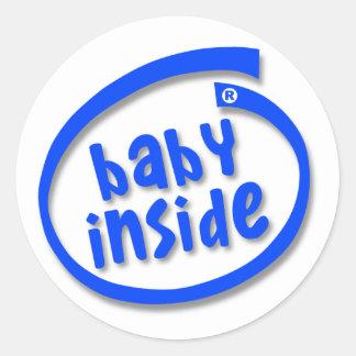 Baby Inside Classic Round Sticker