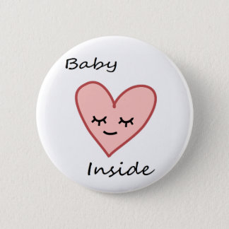 Baby Inside Heart Button Pregnant Woman Cute Pink