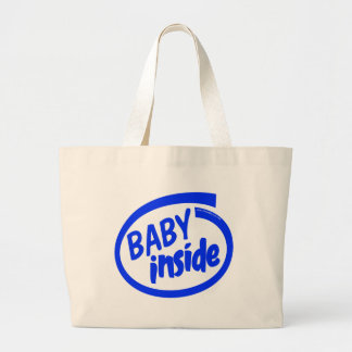 Baby inside large tote bag
