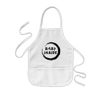 Baby Inside Maternity Apron