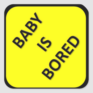Baby Is Bored Sticker