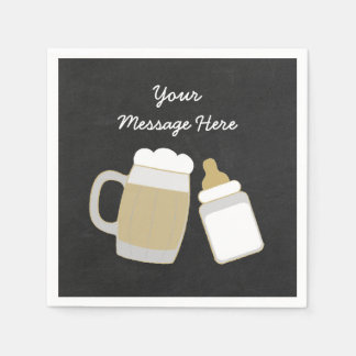 Baby Is Brewing Baby Shower Paper Napkin