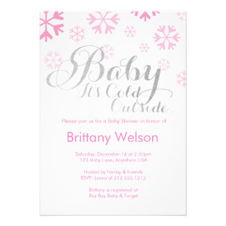 Baby It s Cold Outside Baby Shower Invitation