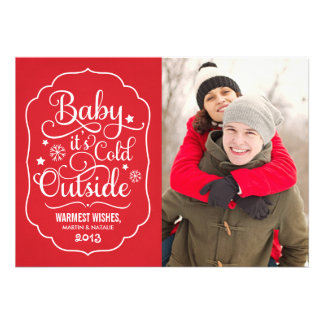 Baby It s Cold Outside Holiday Photo Card