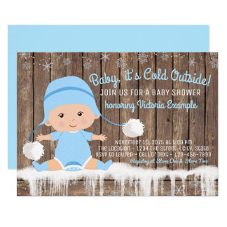 "Baby its Cold Outside Baby Shower 5"" X 7"" Invitation Card"