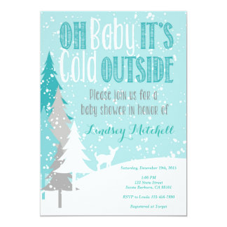 Baby It's Cold Outside- Baby Shower Invitation