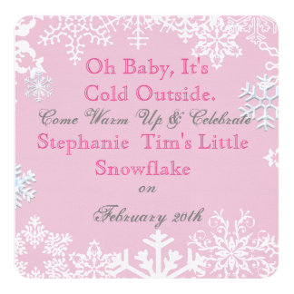 Baby Its Cold Outside Baby Shower Invitation Pink