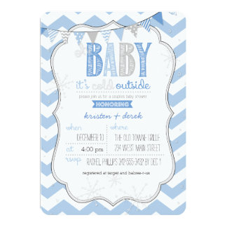 Baby It's Cold Outside Blue Couples Shower Invite