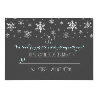 Baby it's Cold Outside Blue RSVP Custom Invitation