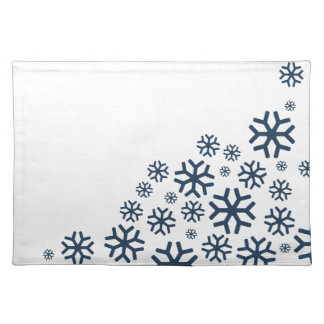Baby, It's Cold Outside | Blue Snowflake Placemat