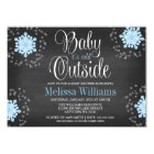 Baby It's Cold Outside Blue Snowflakes Baby Shower Card