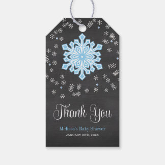 Baby It's Cold Outside Blue Snowflakes Baby Shower Pack Of Gift Tags