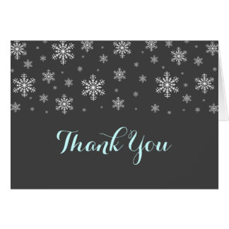 Baby it's Cold Outside Blue Thank You Card