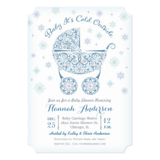 Baby It's Cold Outside, Boy Shower Invitation