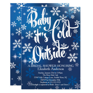 "Baby It's Cold Outside Bridal Shower 5"" X 7"" Invitation Card"