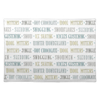 Baby It's Cold Outside Chalkboard Winter Words Placemat