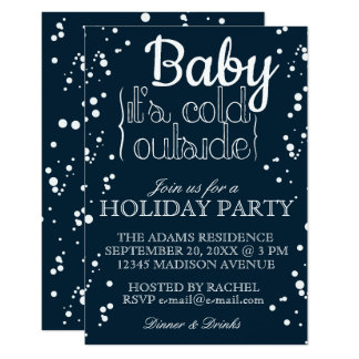 Baby, It's Cold Outside | Holiday Party Invitation