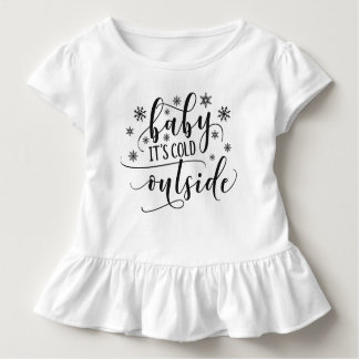 Baby It's Cold Outside Holiday | Ruffle Tee
