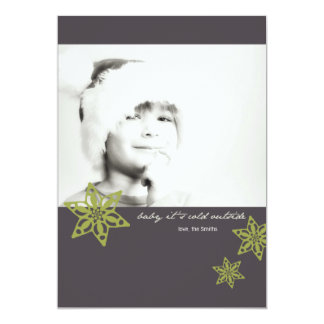 """Baby it's cold outside!"" Photo Christmas Card 5"" X 7"" Invitation Card"
