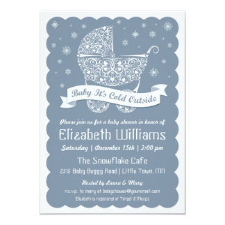 "Baby It's Cold Outside Shower Invitation 5"" X 7"" Invitation Card"