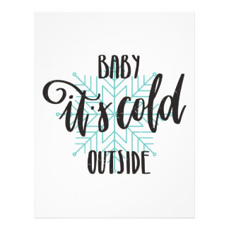 Baby Its Cold Outside Snowflake - Modern Lettering Letterhead
