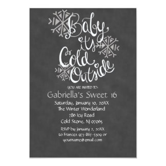 Baby It's Cold Outside Sweet16 Birthday Invitation