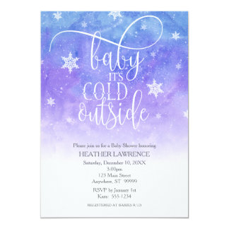 """""""Baby It's Cold Outside"""" Winter Baby Shower Card"""