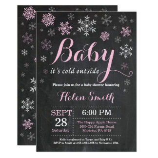 Baby It's Cold Outside Winter Baby Shower Card