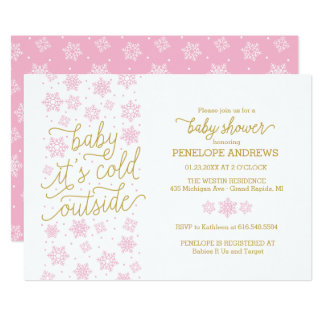 Baby It's Cold Outside Winter Baby Shower Invite