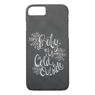 Baby It's Cold Outside With Snowflakes iphone Case