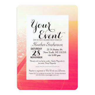 """""""Baby It's Hot Outside."""" Typography on Summer Day 5"""" X 7"""" Invitation Card"""