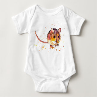 baby jersey body with sweet mouse baby bodysuit