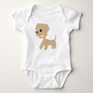 Baby Jersey Bodysuit dog with a bone