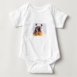 **Baby Jersey Bodysuit**DOGGIE WITH RUBBER DUCKIES Baby Bodysuit