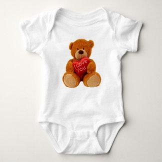 Baby Jersey bodysuit showing teddy bear