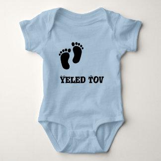 """Baby Jersey Bodysuit """"yeled tov"""""""