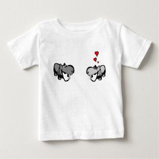 Baby Jersey T-Shirt - Hippo in Love - Nilpferd
