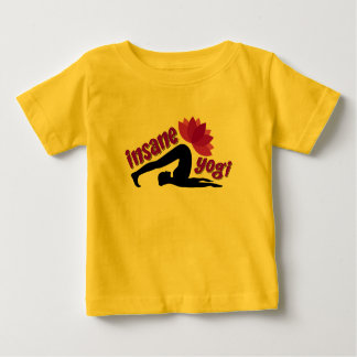 Baby Jersey T-Shirt with Insane Yogi sign