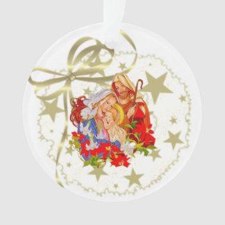 Baby Jesus Circle Tree Ornament
