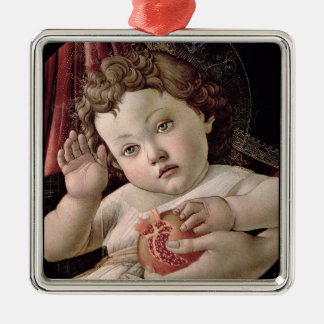 Baby Jesus Holding Pomegranate Metal Ornament