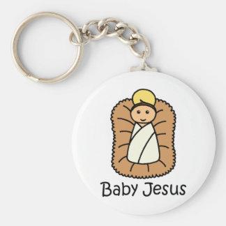 Baby Jesus In A Manger Keychain