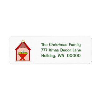 Baby Jesus Manger Christmas  Mailing Labels